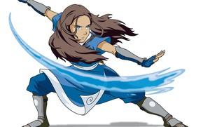 Картинка вода, маг, Катара, Katara, Nickelodeon, Avatar The Last Airbender
