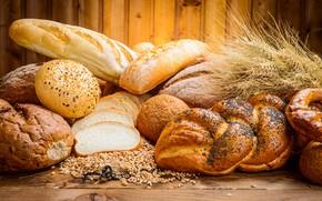Картинка зерно, хлеб, булочки, батон