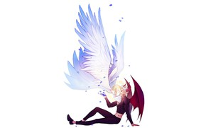 Картинка романтика, ангел, демон, арт, Nanatsu no Taizai, Бан, Элейн