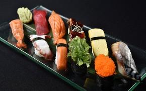 Картинка рыба, икра, sushi, суши, роллы, морепродукты