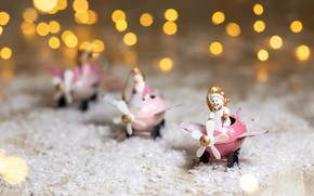 Картинка снег, праздник, новый год, рождество, снеговик, дед мороз, фигурки, декор, статуэтки, Kukota Ekaterina