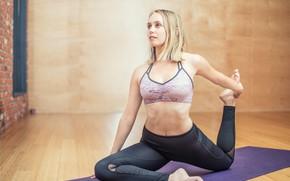Картинка девушка, Стиль, йога, фитнес