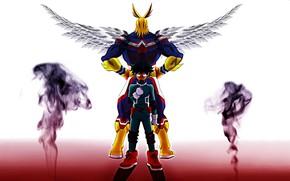 Картинка крылья, Всемогущий, My Hero Academia, Boku No Hero Academia, Мидория Изуку, Моя Геройская Академия, Деку