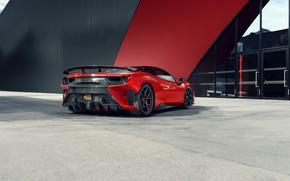 Картинка Ferrari, суперкар, вид сзади, GTB, 2018, 488, Pogea Racing, FPlus Corsa