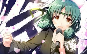 Картинка девушка, микрофон, певица