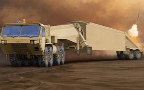 Картинка M983 Tractor, AN/TPY-2, Forward Based X-Band Transportable, Активная фазированная антенная решётка, FBX-T, Surveillance Transportable Radar