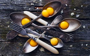 Картинка яйца, вилки, ложки
