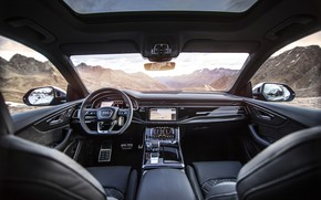 Картинка горы, Audi, TDI, салон, кроссовер, ABT, 2019, SQ8