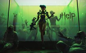 Картинка cyberpank, cyberpunk 2077, cyber girl, 2020, bionic, cdprojekt red