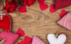 Картинка любовь, цветы, сердце, розы, сердечки, red, love, wood, romantic, hearts, valentine's day, roses