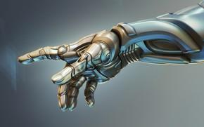 Картинка механизм, робот, рука, киборг