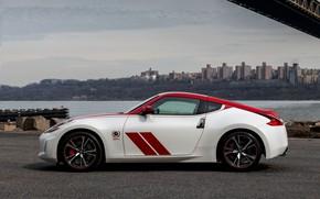 Картинка полосы, купе, силуэт, Nissan, красно-белый, 370Z, 50th Anniversary Edition, 2020, 2019