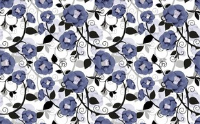 Картинка цветы, фон, background, pattern, floral