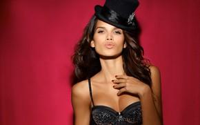 Картинка модель, шляпа, цилиндр, Raica Oliveira