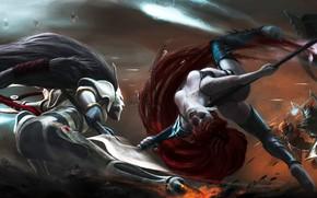 Картинка art, эльдары, eldar, вархаммер, Warhammer 40 000, wh40k, dark eldar, Phoenix Lord, Jain Zar, темные …