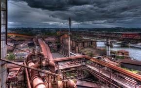 Картинка пейзаж, завод, фабрика