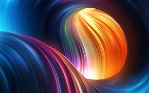 Картинка абстракция, цвет, радуга, форма