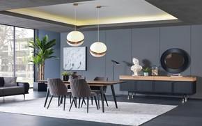 Картинка дизайн, стиль, интерьер, столовая, yemek odasi, takimi