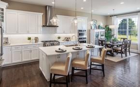 Картинка интерьер, кухня, столовая