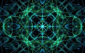 Картинка линии, узор, краски, симметрия