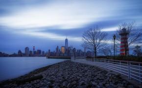 Обои blue, Jersey City, Джерси-Сити, утро