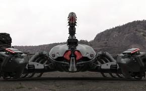 Картинка робот, скорпион, scorpion, Amin Akhshi, Deathstalker