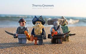 Картинка sword, beach, photography, macro, sand, Davy Jones, toys, Lego, Pirates of the Caribbean, pirates, miscellanea