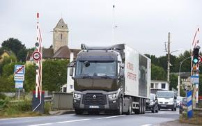 Картинка мост, знаки, грузовик, Renault, автомобили, седельный тягач, 4x2, полуприцеп, Renault Trucks, T-series