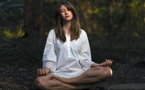 Картинка девушка, поза, медитация