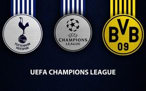 Картинка wallpaper, sport, logo, football, Borussia Dortmund, UEFA Champions League, Tottenham Hotspur, Tottenham Hotspur vs Borussia …