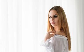 Картинка взгляд, девушка, модель, волосы, красотка, Алина, Dmitry Medved