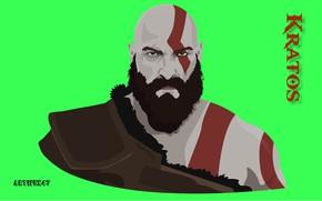 Картинка взгляд, Kratos, God of War