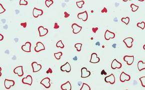 Картинка фон, текстура, сердечки