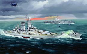 Картинка ВМС США, CB-3, USS Hawaii, американский линейный крейсер типа «Аляска»