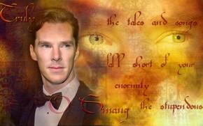 Картинка буквы, фон, Бенедикт Камбербэтч, Benedict Cumberbatch, by geepor