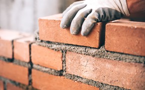 Картинка bricks, gloves, worker