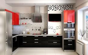 Картинка дизайн, интерьер, Кухня, помещение, планировка