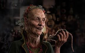 Картинка улыбка, старик, крыса, ужасный, противный, Ruengsak Muengjaidee