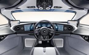 Картинка McLaren, салон, гиперкар, 2019, Speedtail