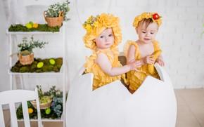 Картинка дети, праздник, яйцо, пасха, костюмы