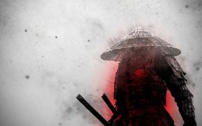 Картинка minimal, anime, samurai