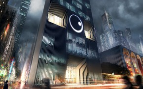 Картинка город, здания, архитектура, небоскрёбы, Public surveillance agency