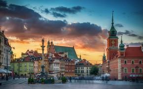 Картинка площадь, Польша, Варшава, Старый город, Plac Zamkowy