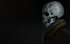 Картинка Минимализм, Череп, Арт, Skull, Illustration, Concept Art, Кость, by Kota Kasahara, Kota Kasahara