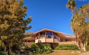 Картинка лето, дом, отдых, Калифорния, USA, США, summer, house, trees