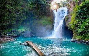 Картинка вода, водопад, Бали, Tegenungan Waterfall, Тегенунган