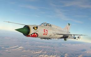 Картинка Польша, КБ МиГ, МиГ-21бис, Фронтовой истребитель