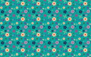 Картинка фон, текстура, цветочки, pattern, Floral