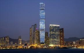 Картинка город, Гонконг, Китай, небоскрёб