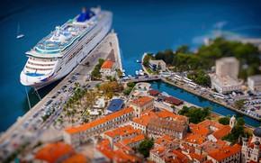 Картинка Город, Лайнер, Судно, Пассажирское судно, Oceana, Cruise Ship, Ocean Princess, Passenger Ship, Cruise Line, P&O …